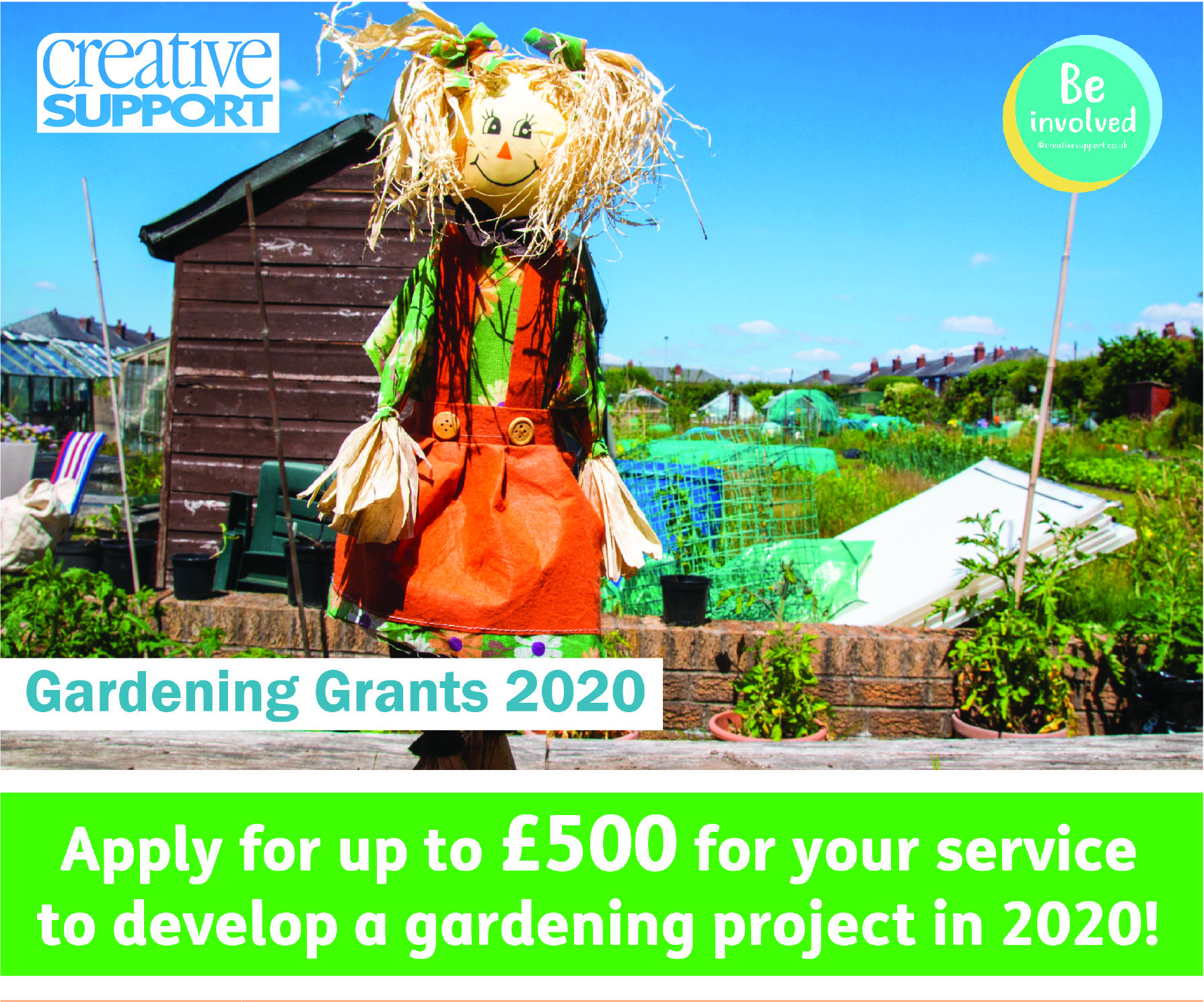 Creative Support joins the green revolution with cash grants for gardening projects