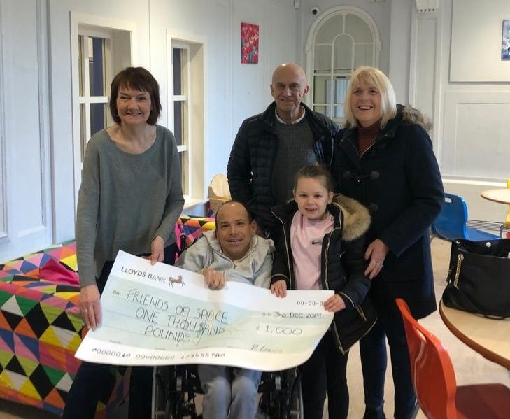 Paul celebrates 40th with £1,000 donation to Creative Space Centre