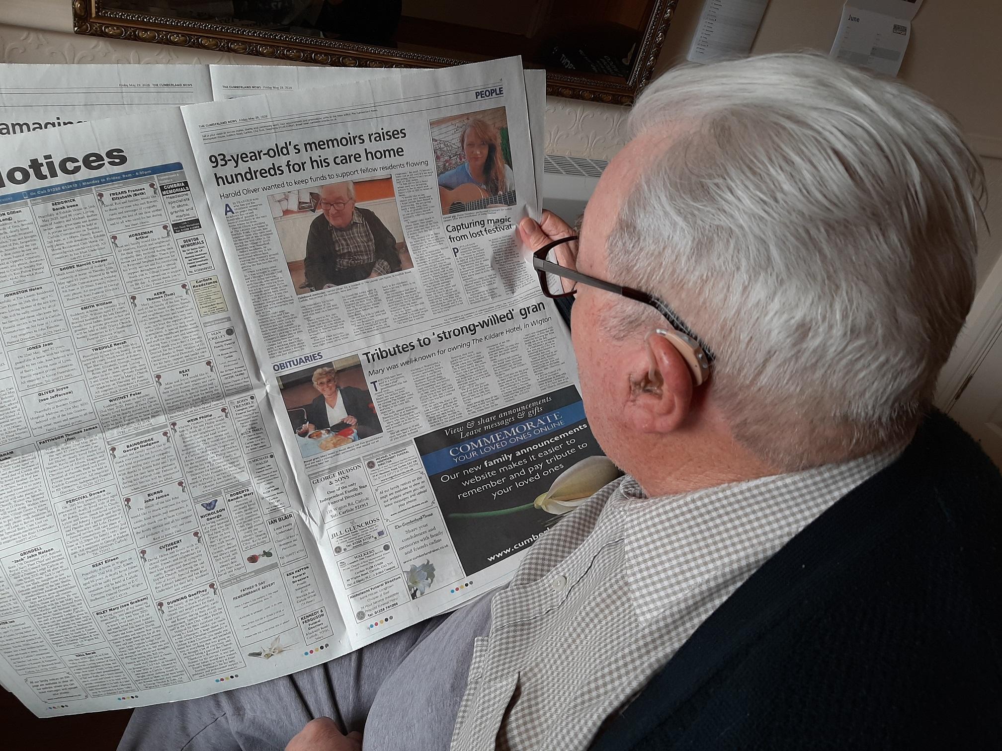 Harold's charity memoir tops £1,000