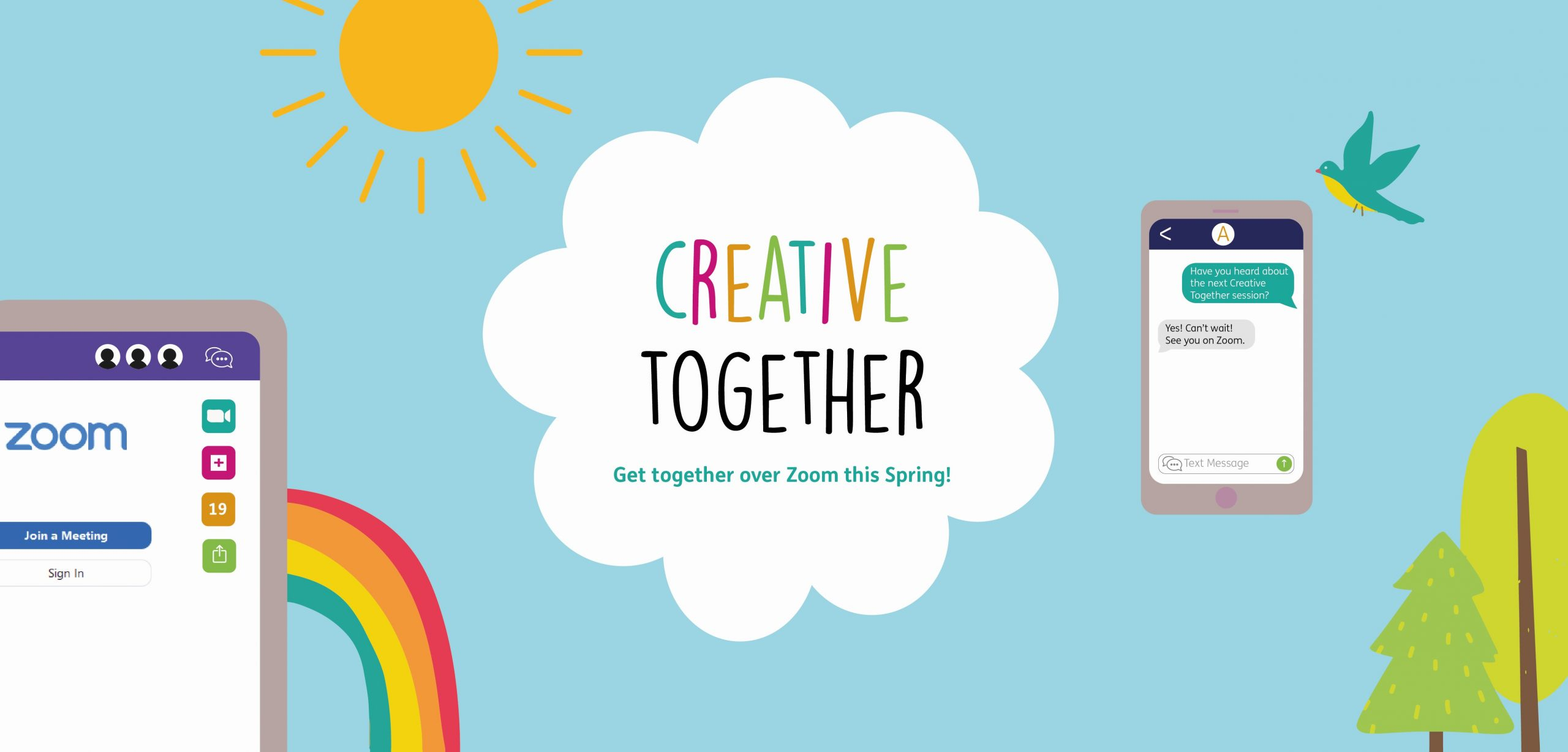 July's Creative Together Zoom Sessions
